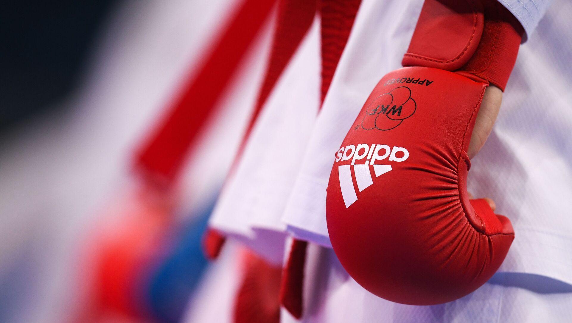 Спортсмен перед началом соревнований по карате. Архивное фото - Sputnik Южная Осетия, 1920, 12.10.2021