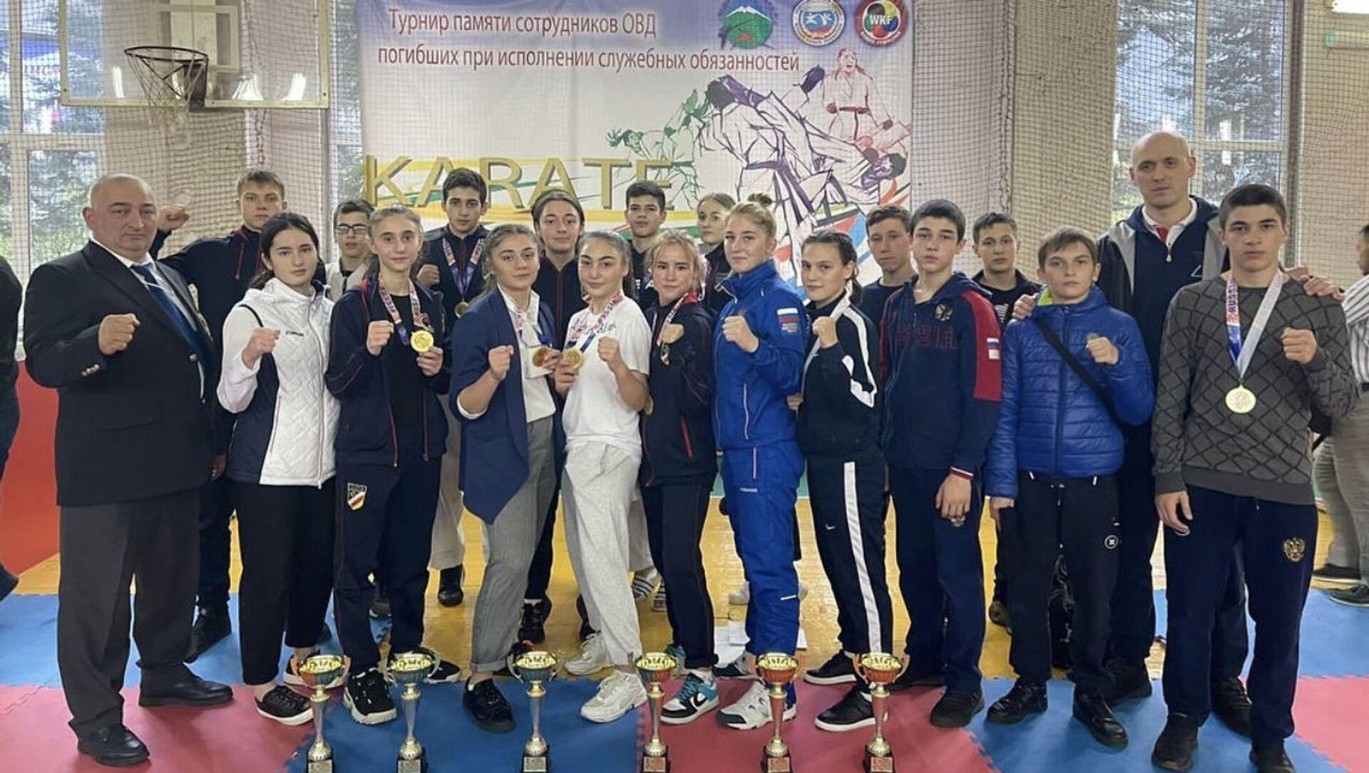 Осетинские каратисты завоевали 23 награды на турнире в Кабардино-Балкарии - Sputnik Южная Осетия, 1920, 13.10.2021