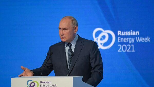 Президент РФ В. Путин принял участие в пленарном заседании форума Российская энергетическая неделя - Sputnik Южная Осетия
