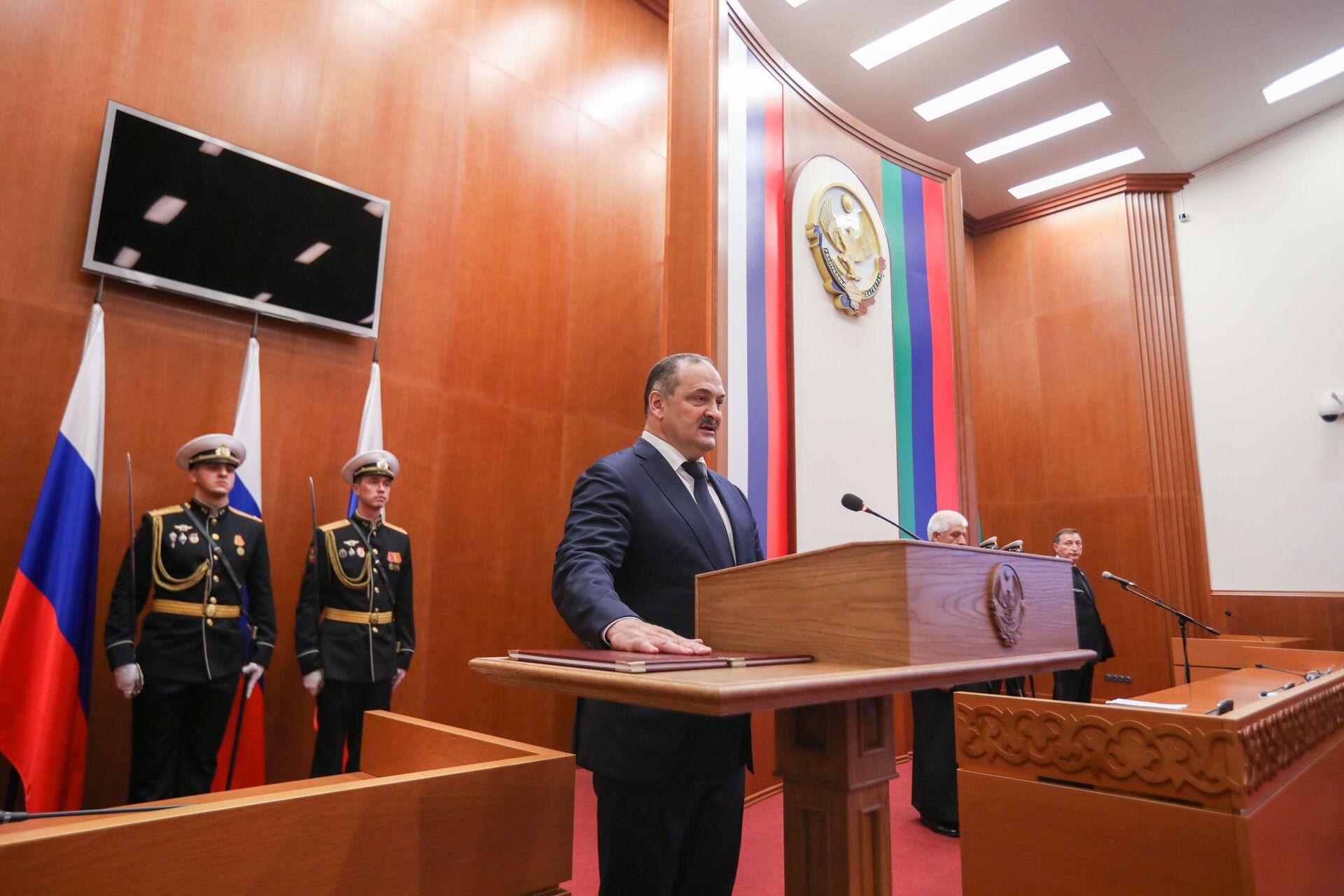 Церемония вступления в должность главы Дагестана Сергея Меликова - Sputnik Южная Осетия, 1920, 26.10.2021