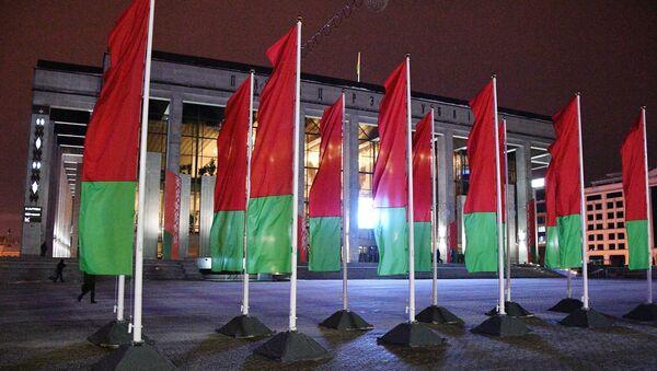 Флаги у Дворца Республики в Минске - Sputnik Южная Осетия