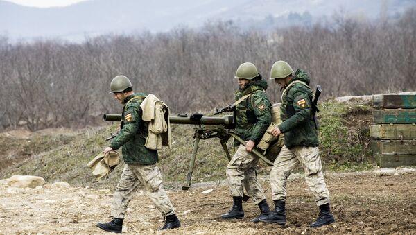 Показательные учения на полигоне Дзарцем - Sputnik Южная Осетия