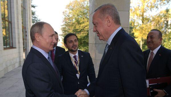 Президент РФ В. Путин встретился с президентом Турции Р. Т. Эрдоганом - Sputnik Южная Осетия